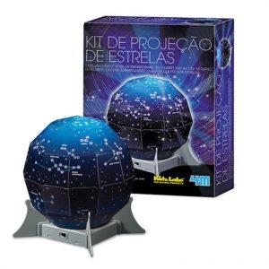 Embalagem mais kit projeção de estrelas montado