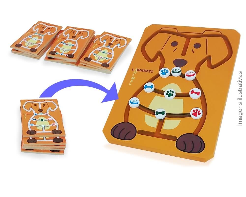 Labirinto animal e peças