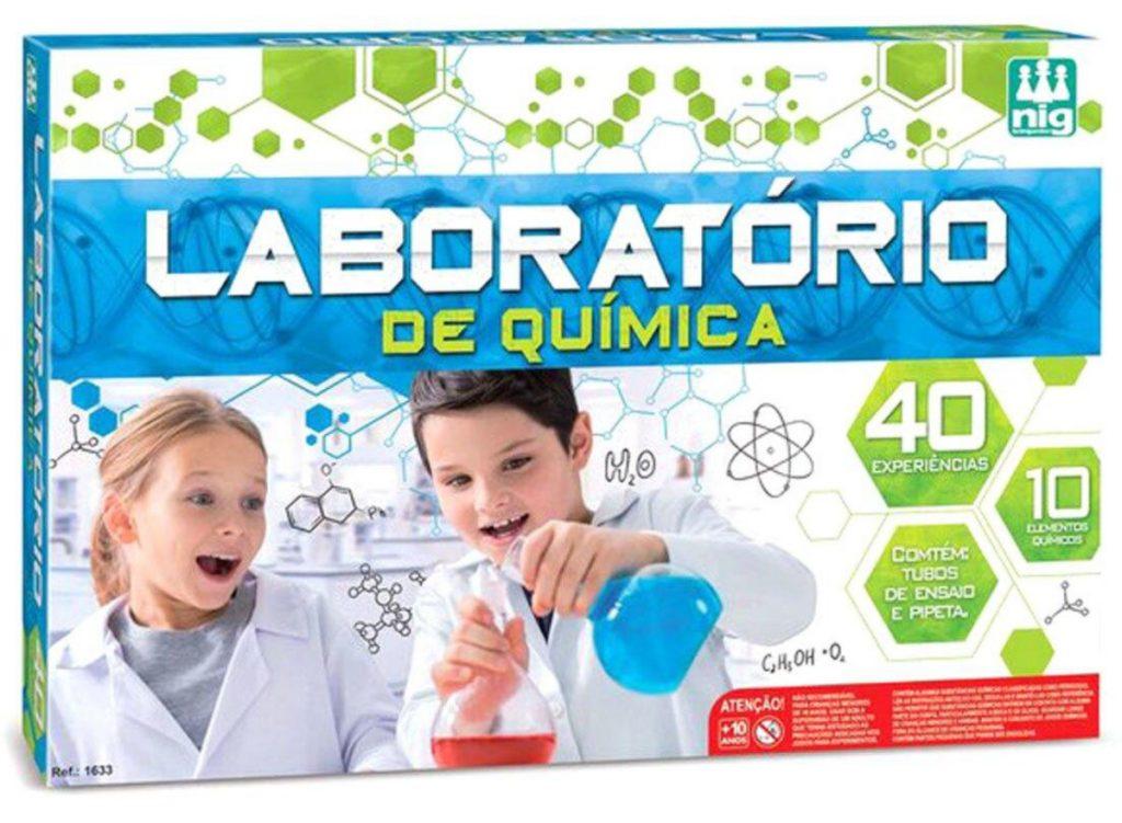 embalagem do jogo laboratório de química