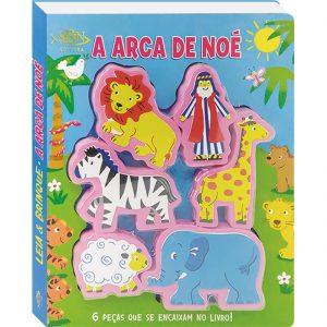 Capa do livro leia e brinque a arca de noé