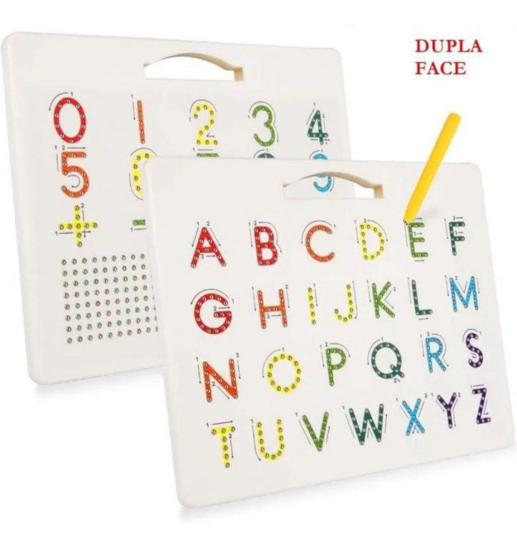 Lousa magnética letras e números