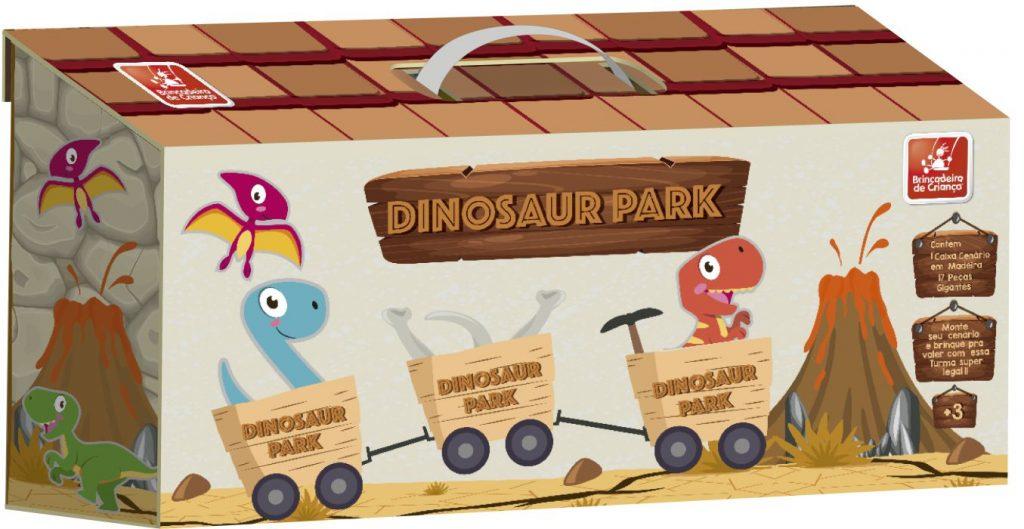 Maleta parque dos dinossauros fechada
