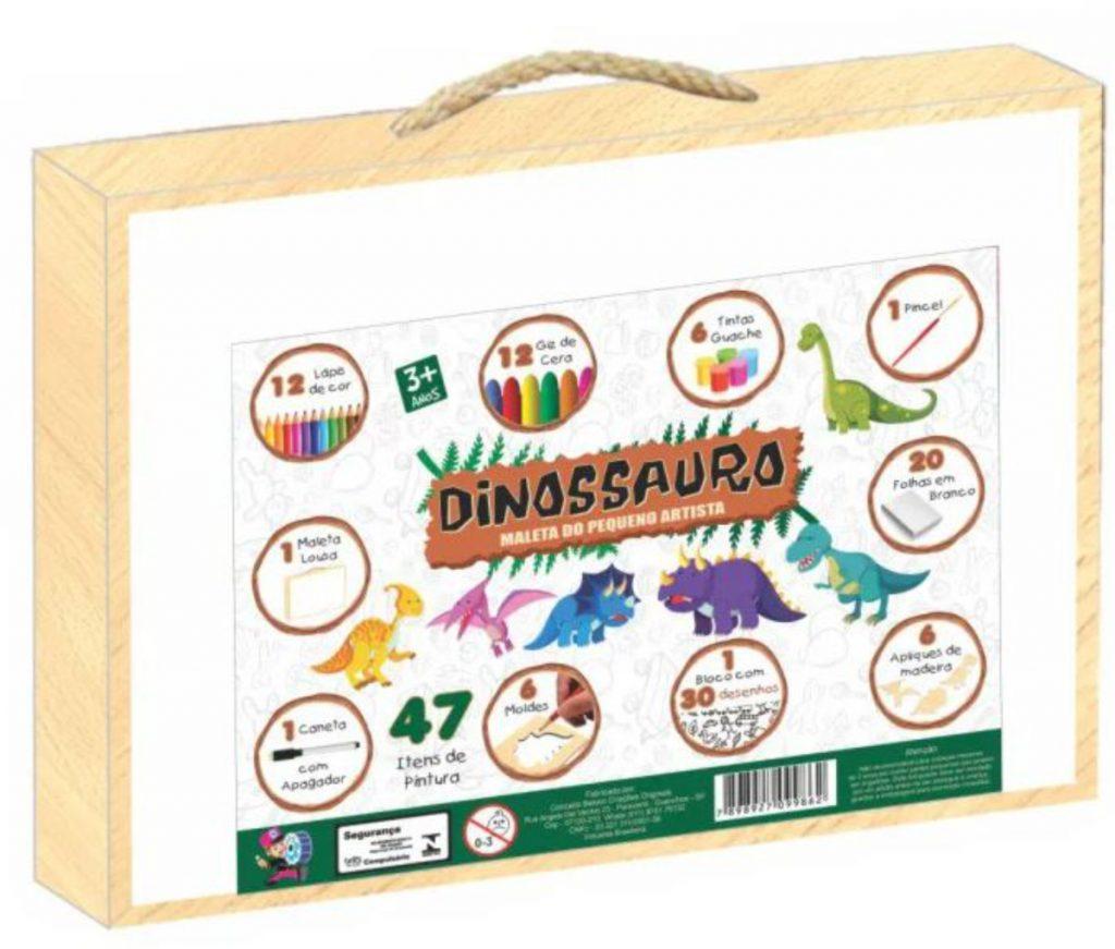 maleta dinossauro do pequeno artista ilustração