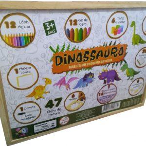 Maleta dinossauro do pequeno artista