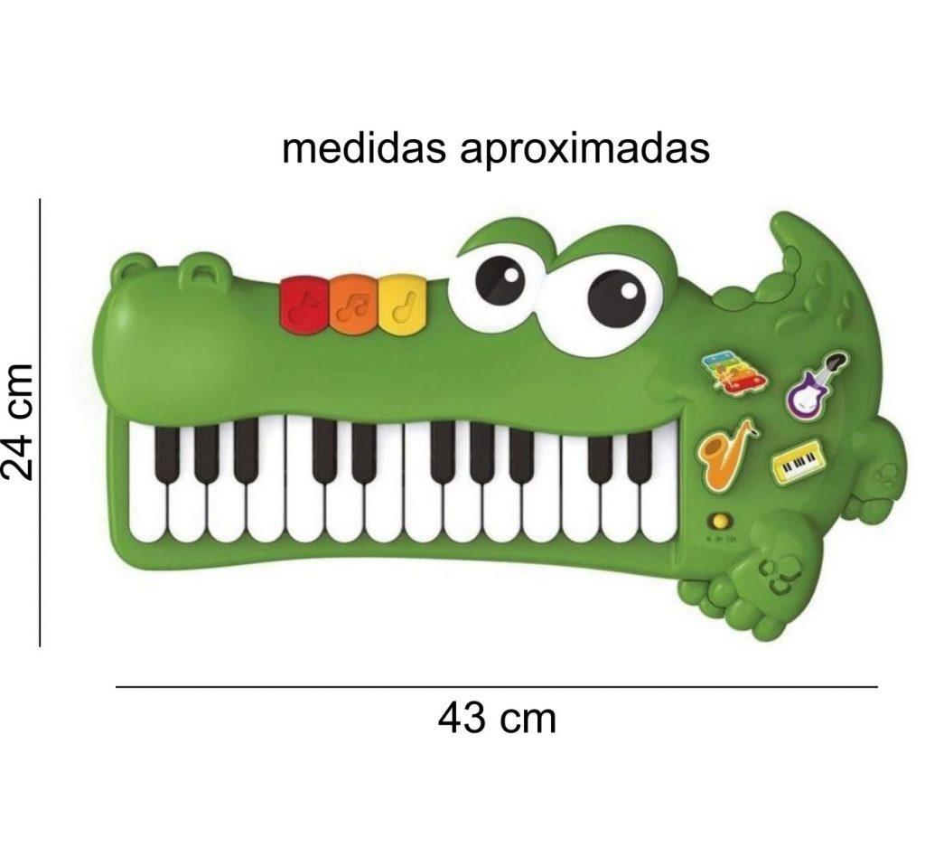 Medidas do teclado divertido jacaré baby