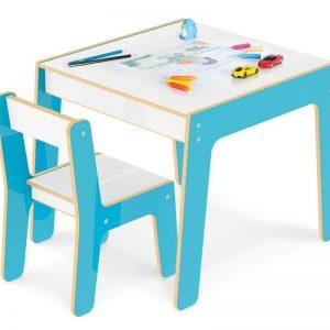 Conjunto de Mesa + Cadeira Infantil azul