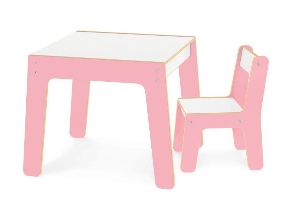 Conjunto de Mesa + Cadeira Infantil rosa