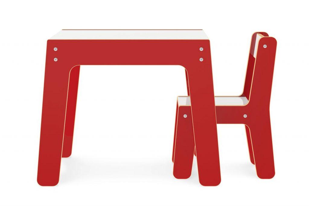 Conjunto de Mesa + Cadeira Infantil vermelha