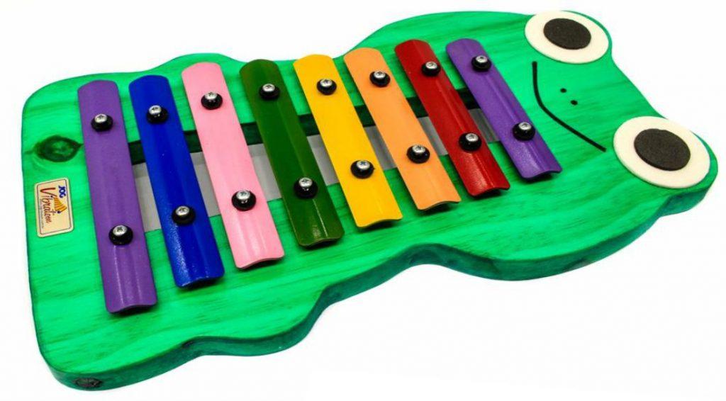 Metalofone colorido sapo