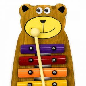 Metalofone colorido urso