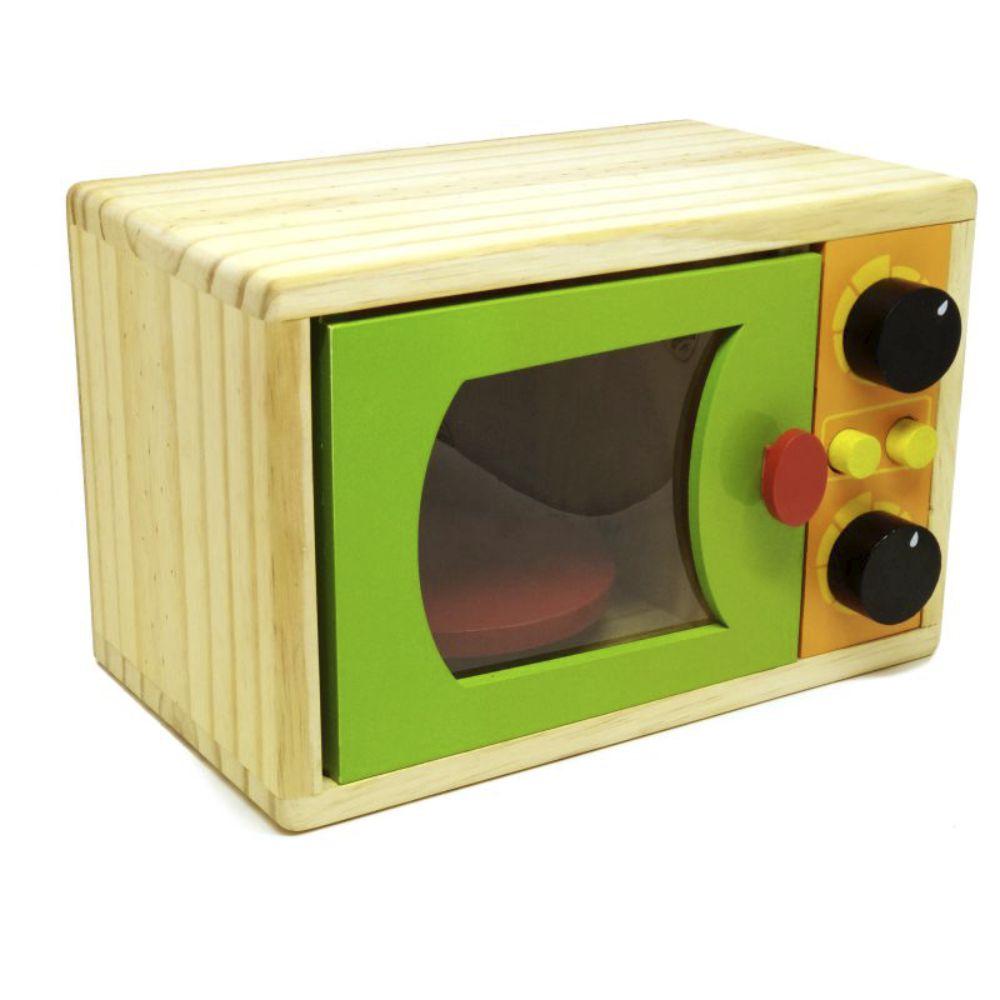 Microondas infantil em madeira