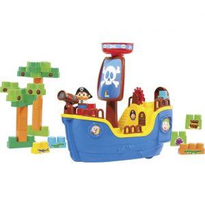 Navio Pirata com as peças montadas