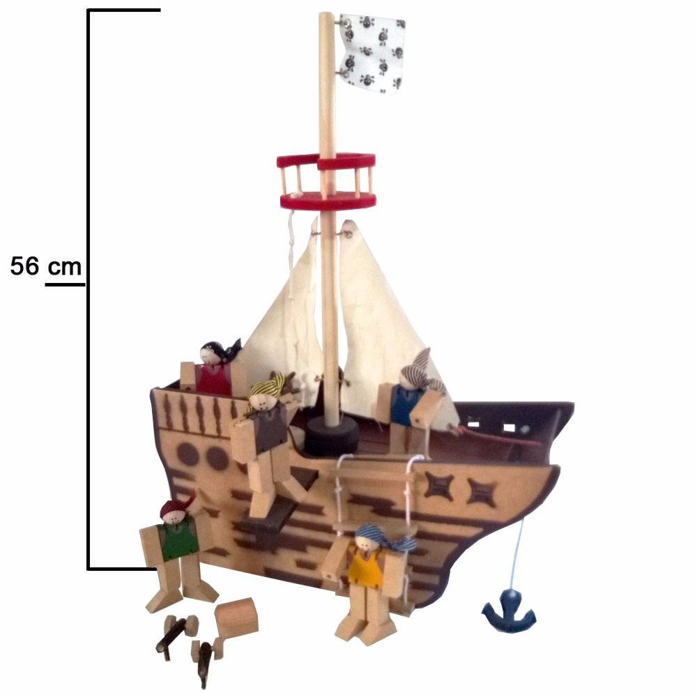 Cenário navio pirata montado