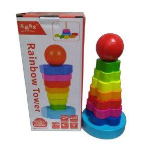 Torre do Arco-íris 8 Peças com embalagem