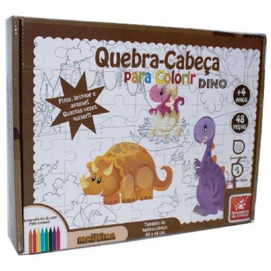 Embalagem do quebra-cabeça para colorir Dino