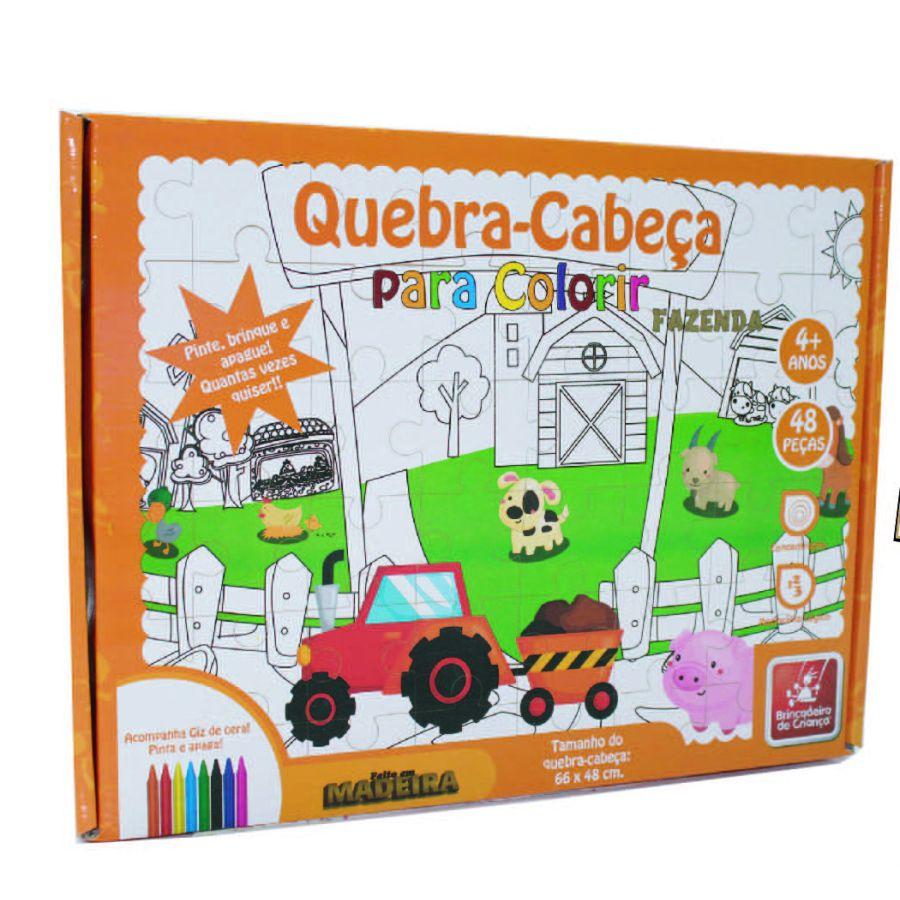 Embalagem do quebra-cabeça para colorir Fazenda