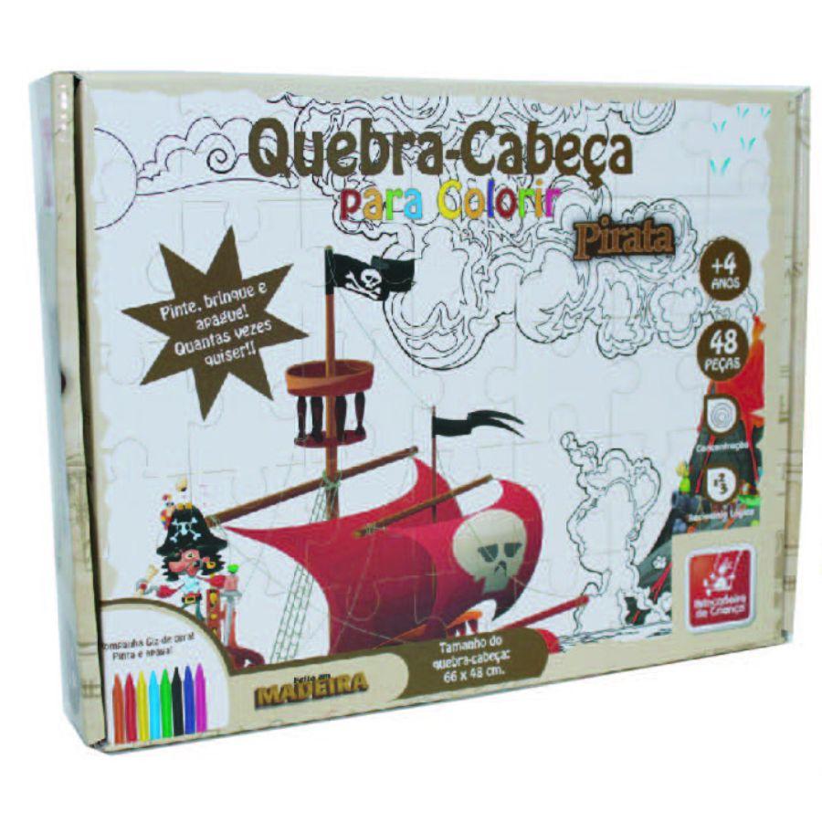 Embalagem do quebra-cabeça para colorir Pirata