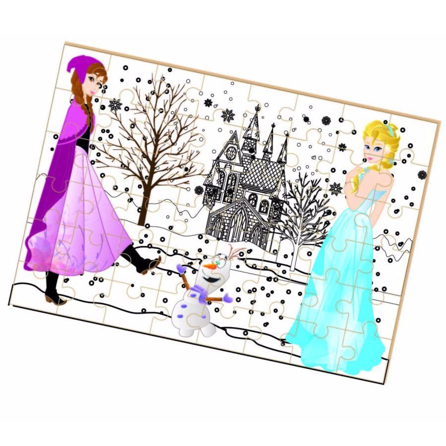 Quebra-cabeça para colorir Princesa do Gelo montado