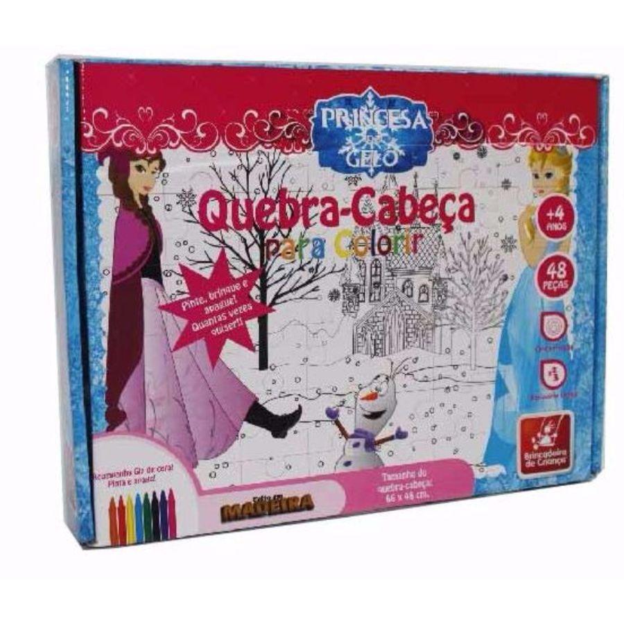 Embalagem do quebra-cabeça para colorir Princesa do Gelo