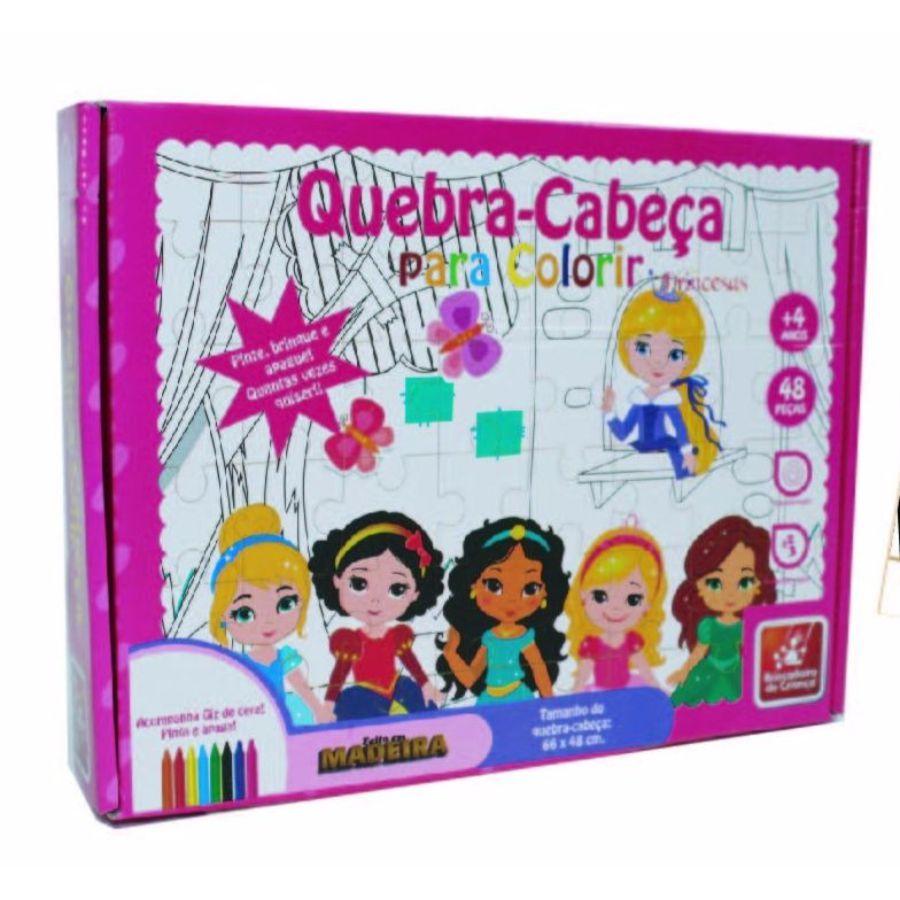 Embalagem do quebra-cabeça para colorir Princesas Baby