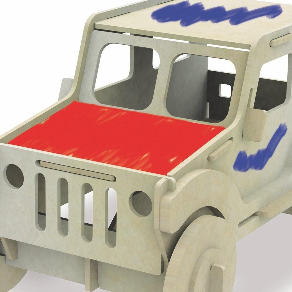 carrinho 3d de pintura