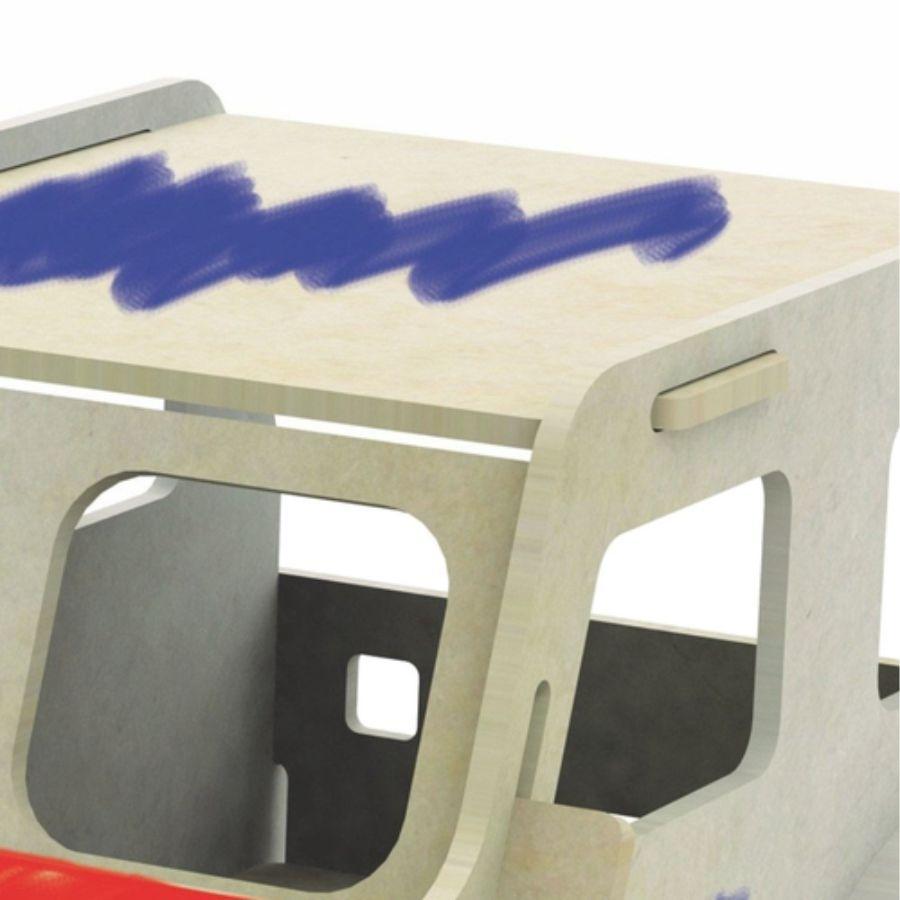 Parte do carrinho 3d de pintura
