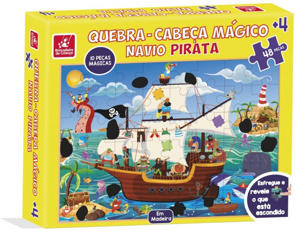 Embalagem do quebra-cabeça mágico navio pirata
