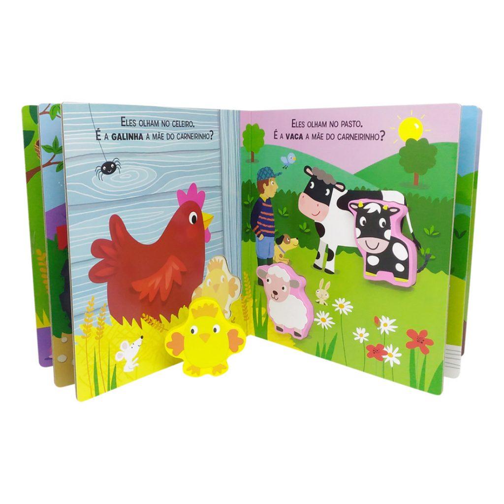 Páginas e peças com Livro quebra-cabeças touchwood fazenda aberto