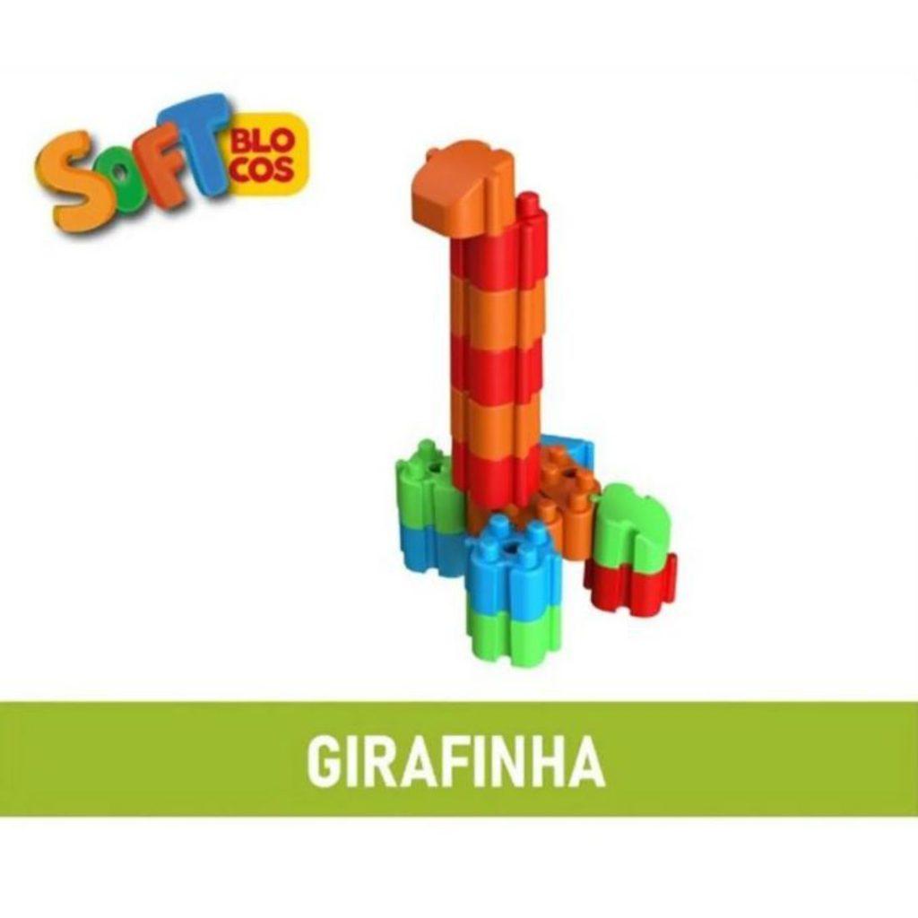 Girafa montada com os soft blocos macios