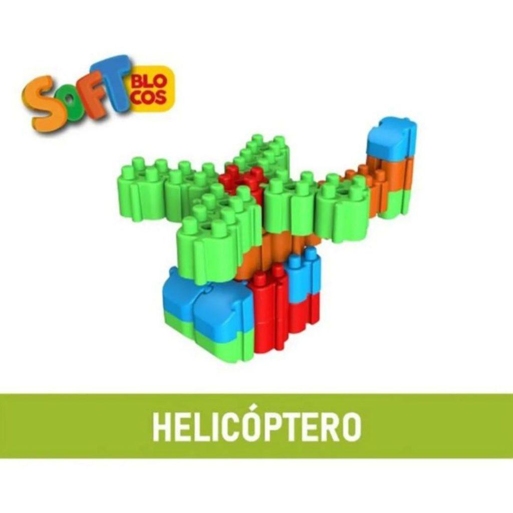 Helicóptero montado com os soft blocos macios
