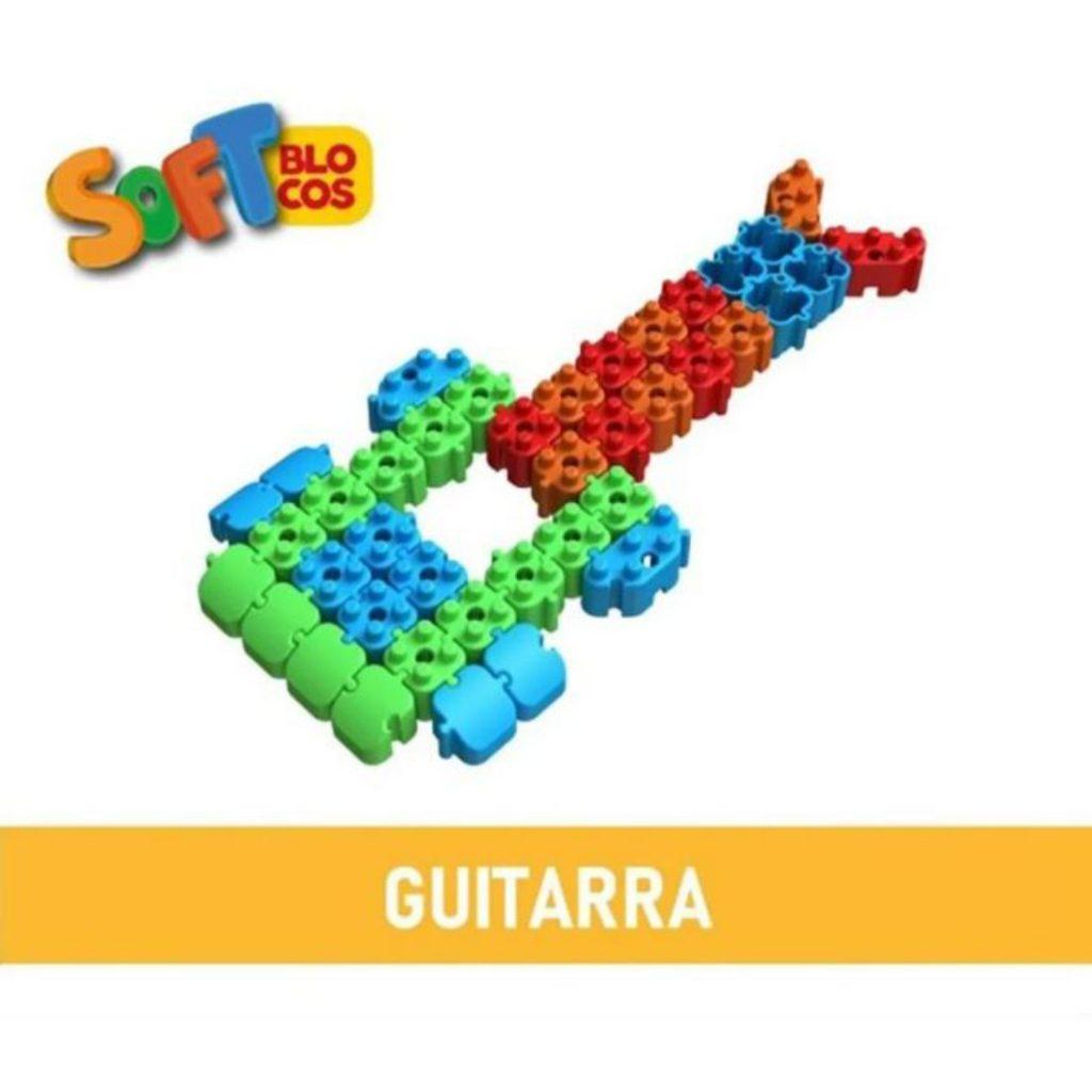 Guitarra montada com os soft blocos macios