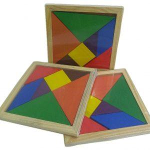 Tangran colorido quebra-cabeça geométrico chinês
