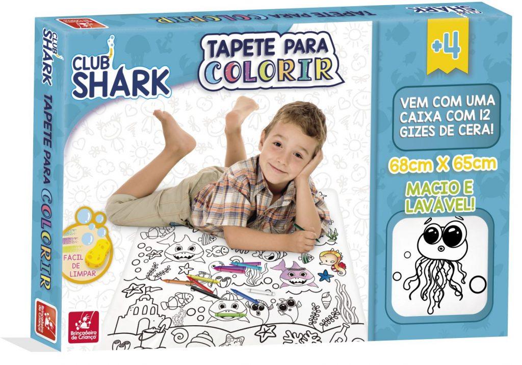 Embalagem do Tapete para colorir club shark