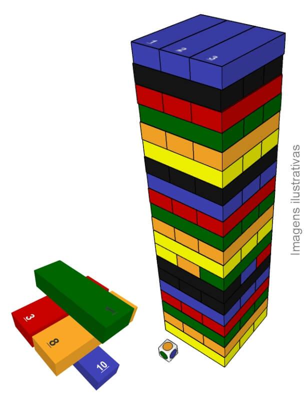 Torre desafio parte colorida