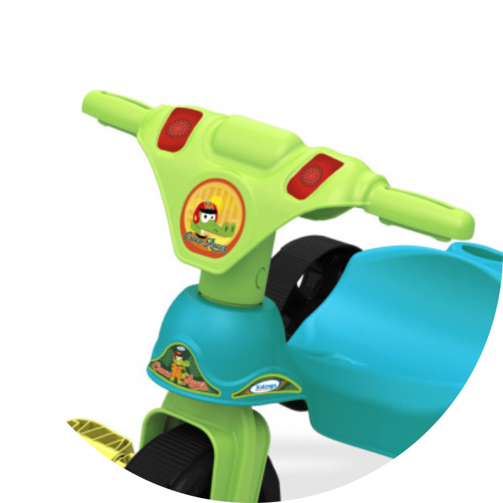 Triciclo croco racer guidão