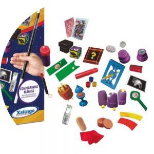embalagem e itens do kit mágicas 75 truques em foco